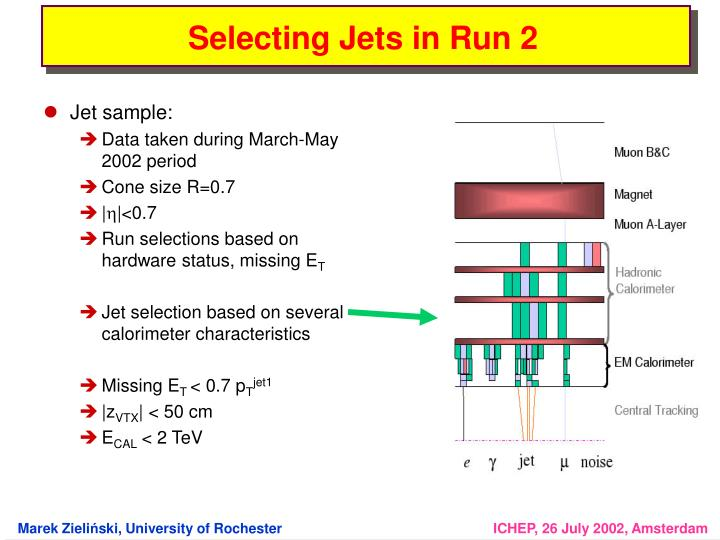 Selecting Jets in Run 2