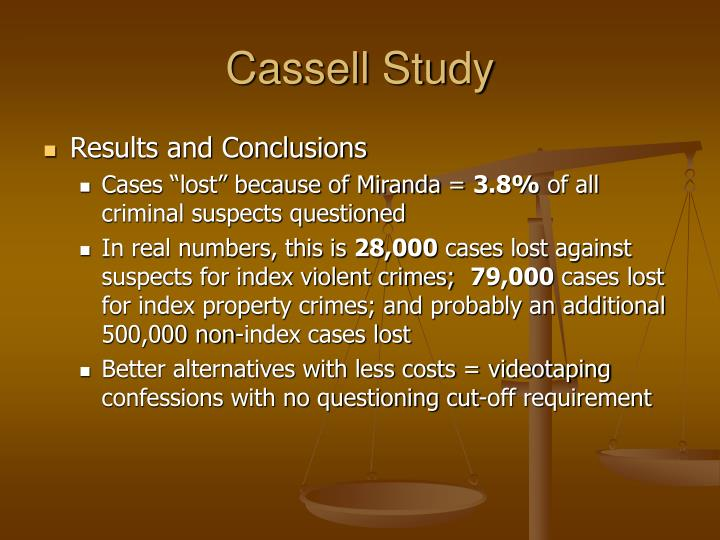 Cassell Study