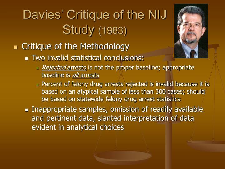 Davies' Critique of the NIJ Study