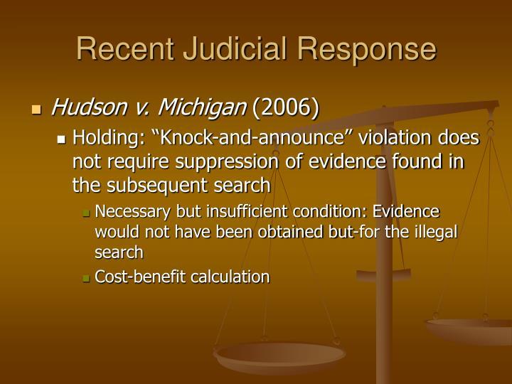 Recent Judicial Response