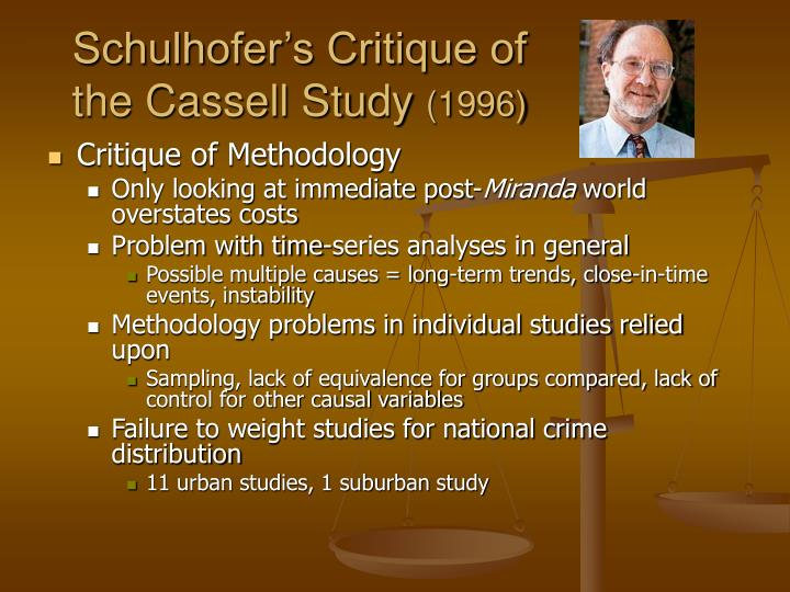 Schulhofer's Critique of the Cassell Study