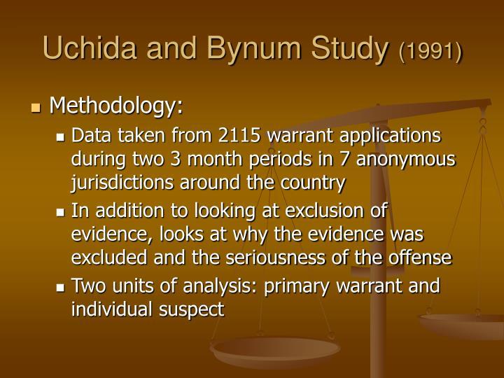 Uchida and Bynum Study