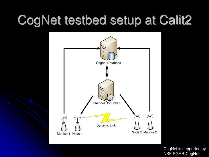 CogNet testbed setup at Calit2