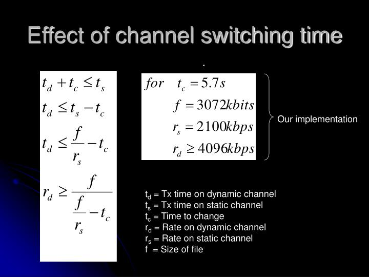 Effect of channel switching time