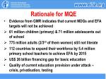 rationale for mqe