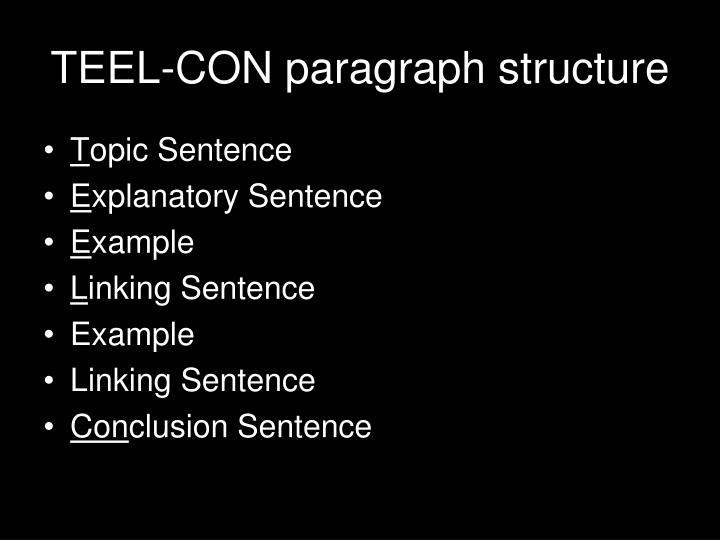 how to start a teel paragraph example