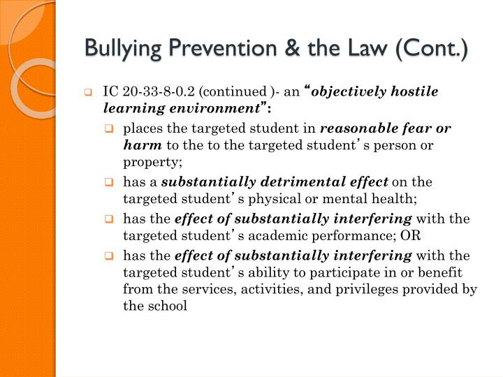 Bullying Prevention & the