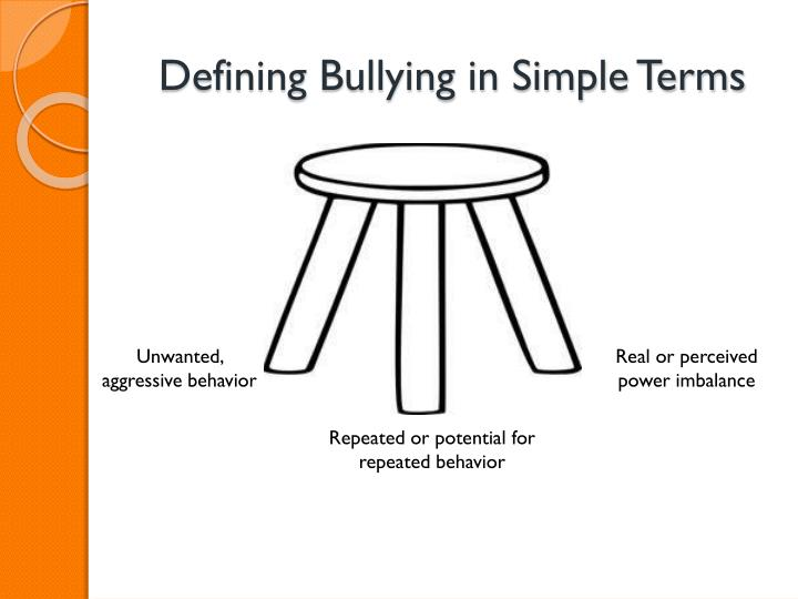 Defining Bullying in Simple Terms