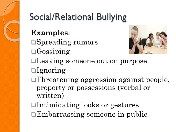 Social/Relational Bullying
