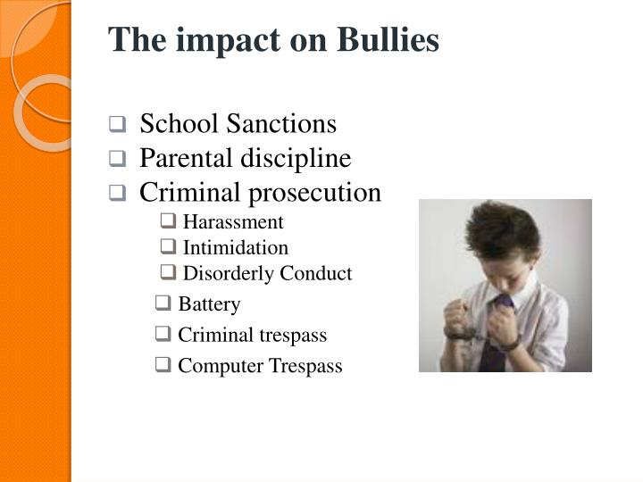 The impact on Bullies