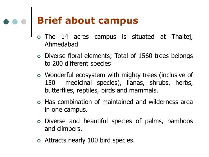 Brief about campus