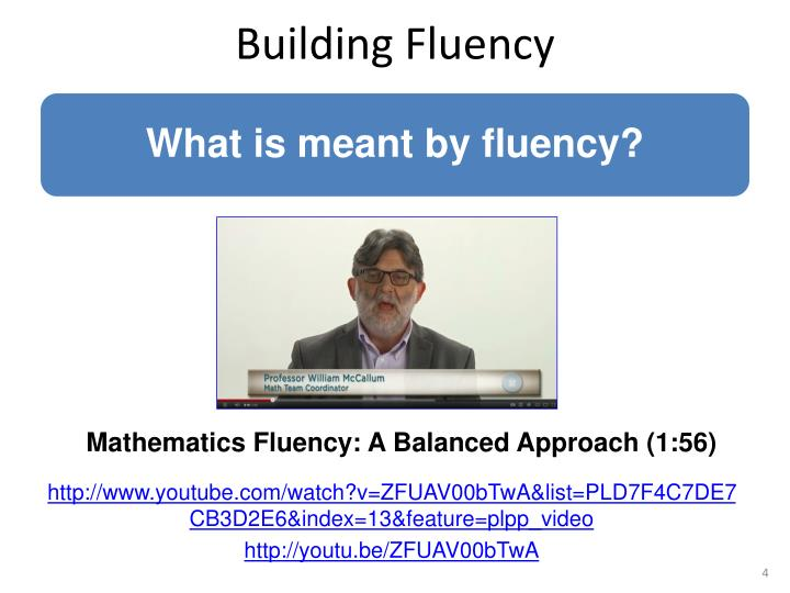 Building Fluency