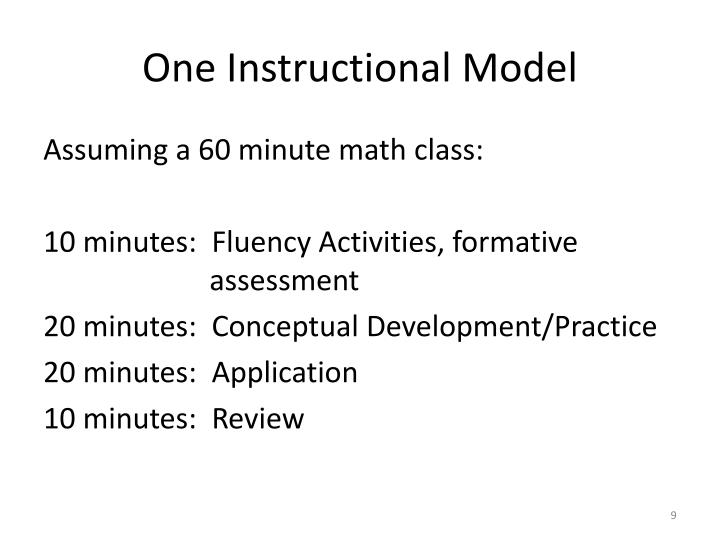 One Instructional Model