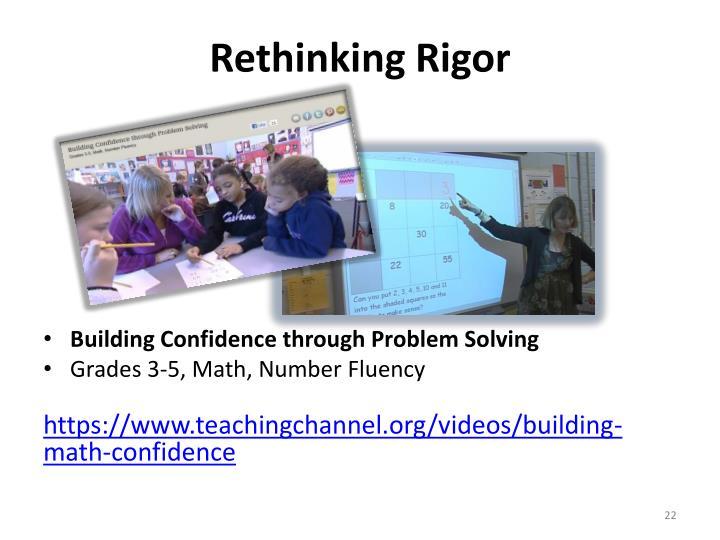 Rethinking Rigor