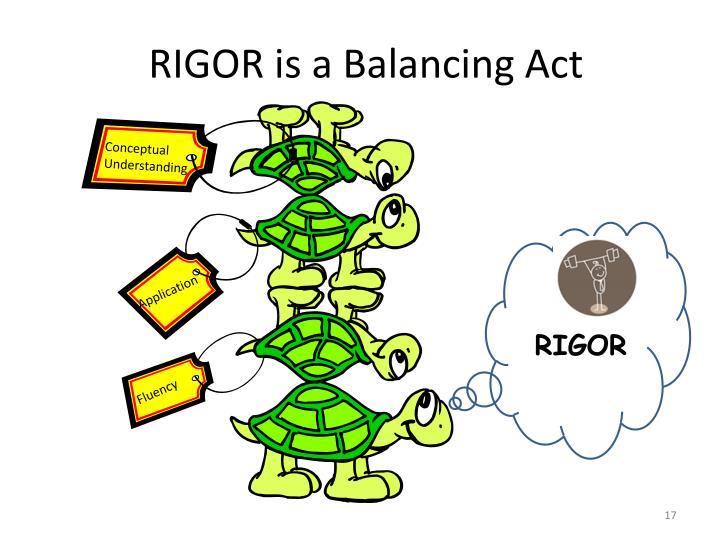 RIGOR is a Balancing Act