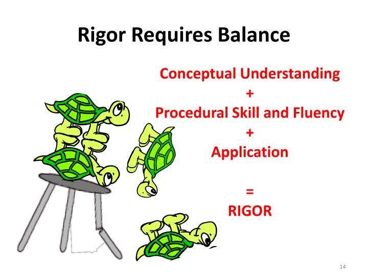 Rigor Requires Balance