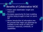 benefits of collaborative woe