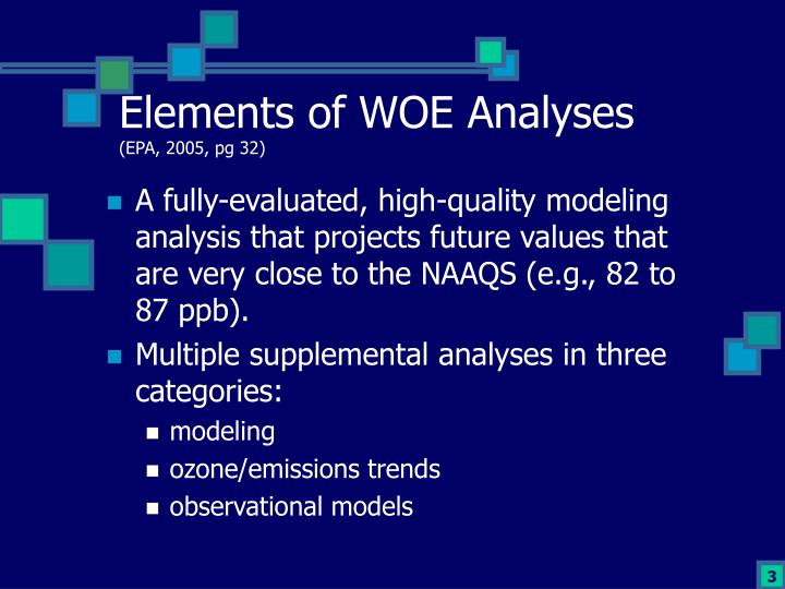 Elements of woe analyses epa 2005 pg 32