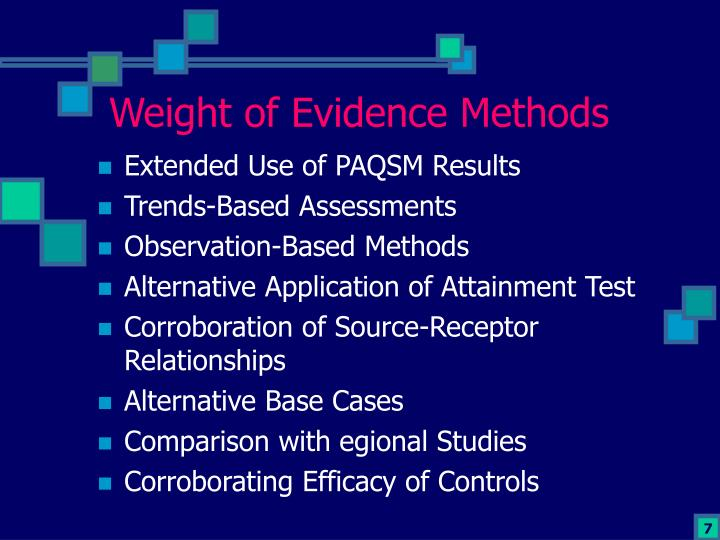 Weight of Evidence Methods