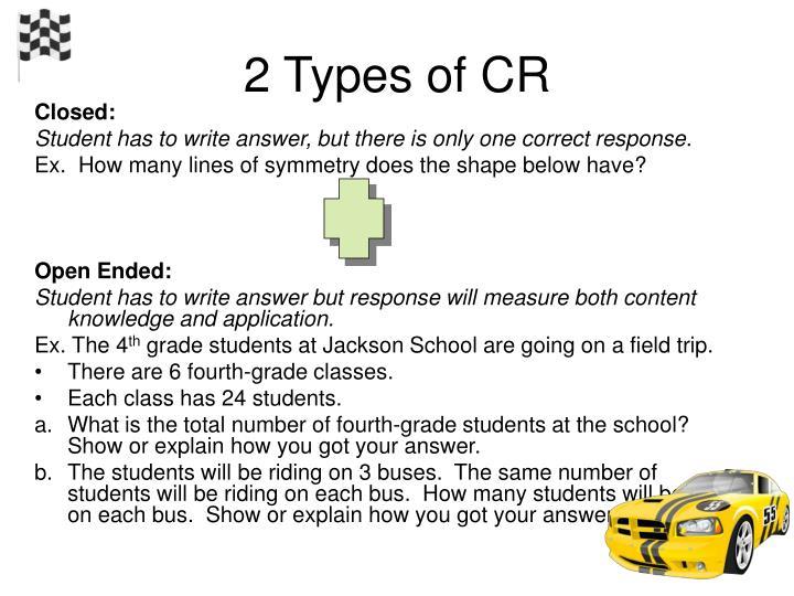 2 Types of CR