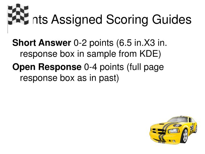 Points Assigned Scoring Guides