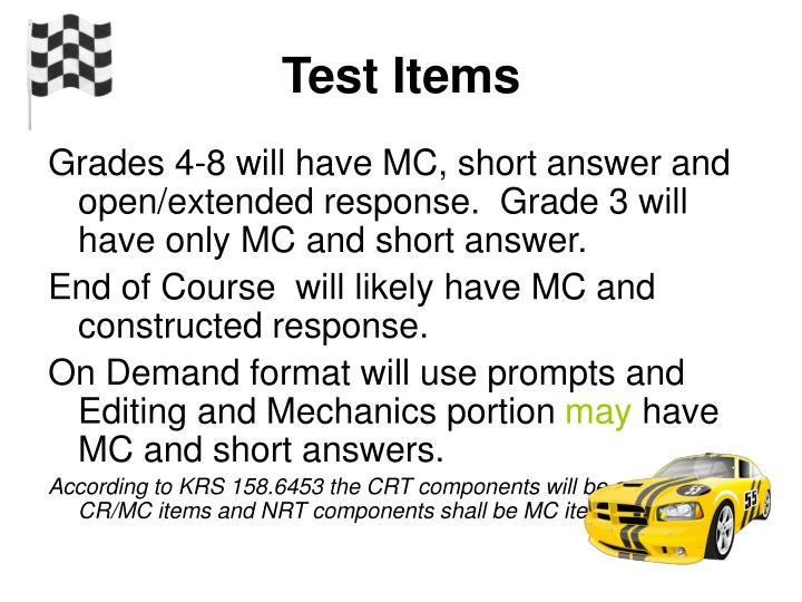 Test Items