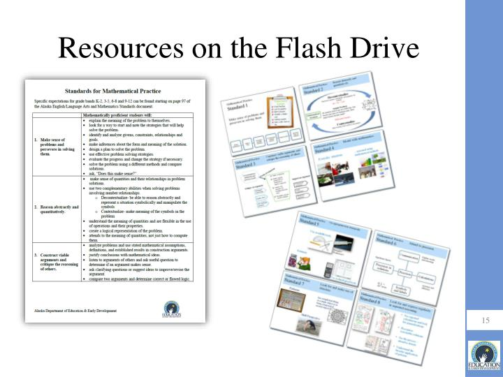 Resources on the Flash Drive
