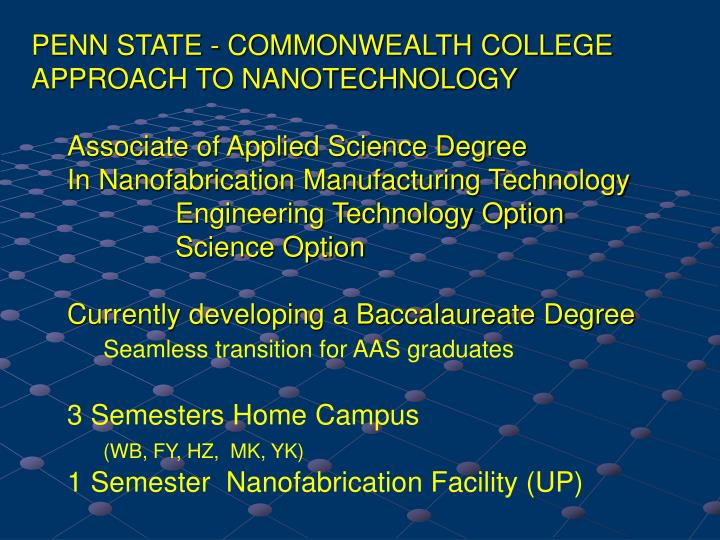 PENN STATE - COMMONWEALTH COLLEGE