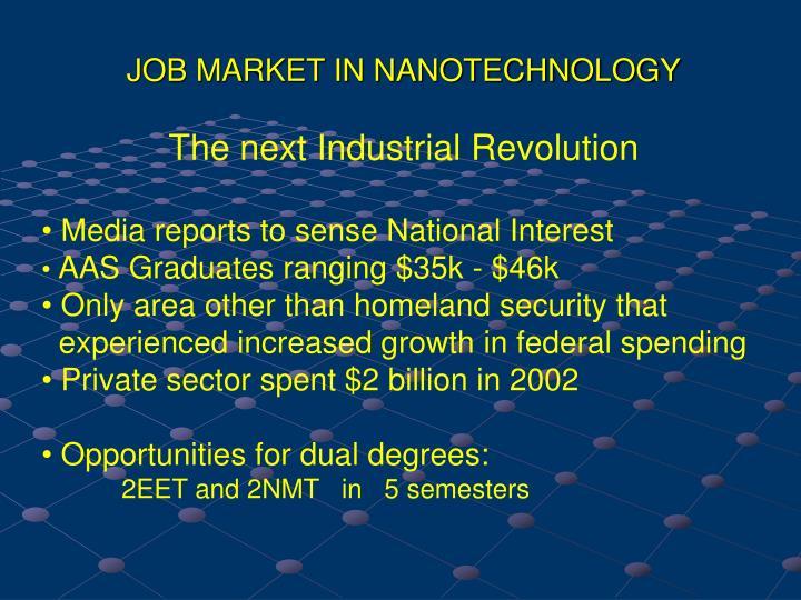 JOB MARKET IN NANOTECHNOLOGY