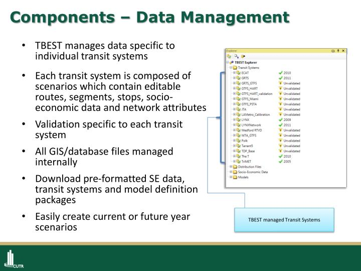 Components – Data Management