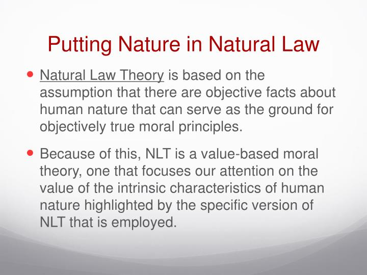 Putting nature in natural law