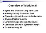 overview of module 1