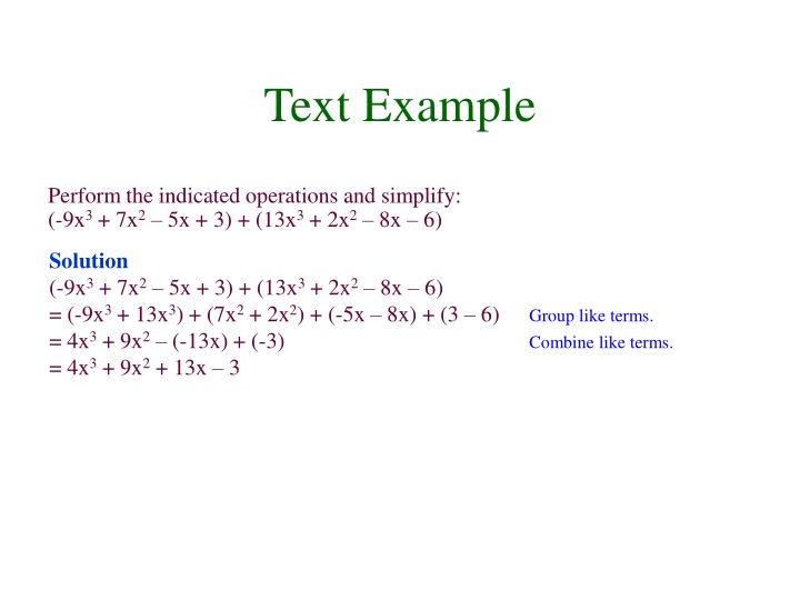 Text Example