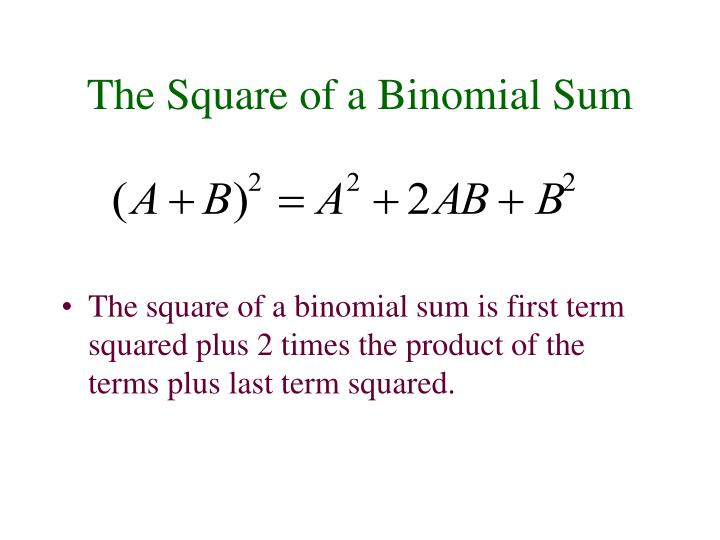The Square of a Binomial Sum