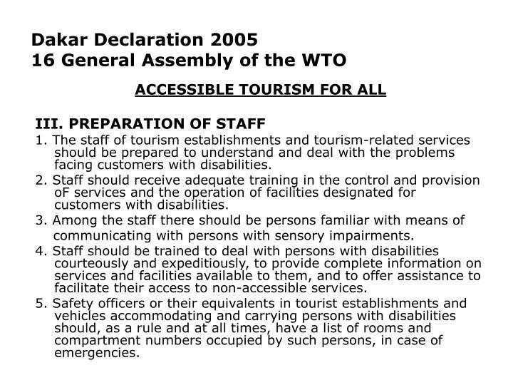 Dakar Declaration 2005