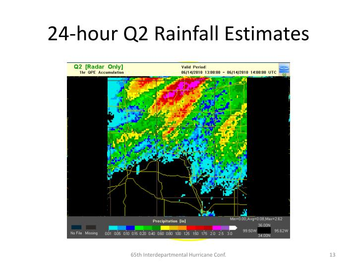 24-hour Q2 Rainfall Estimates