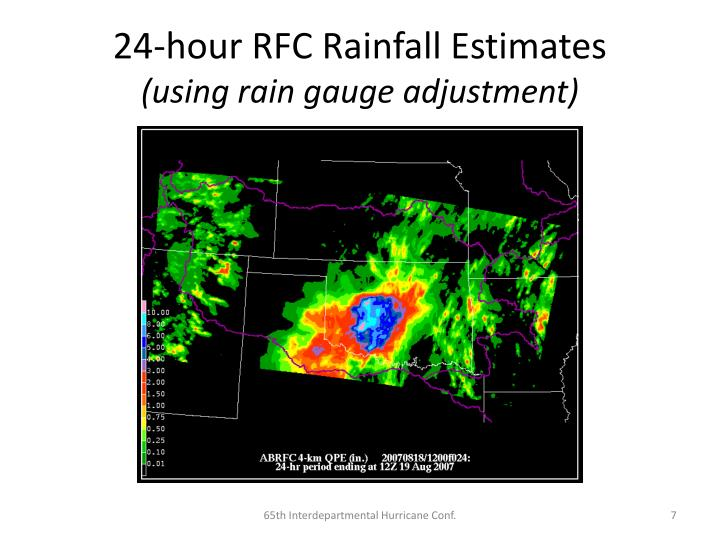 24-hour RFC Rainfall Estimates