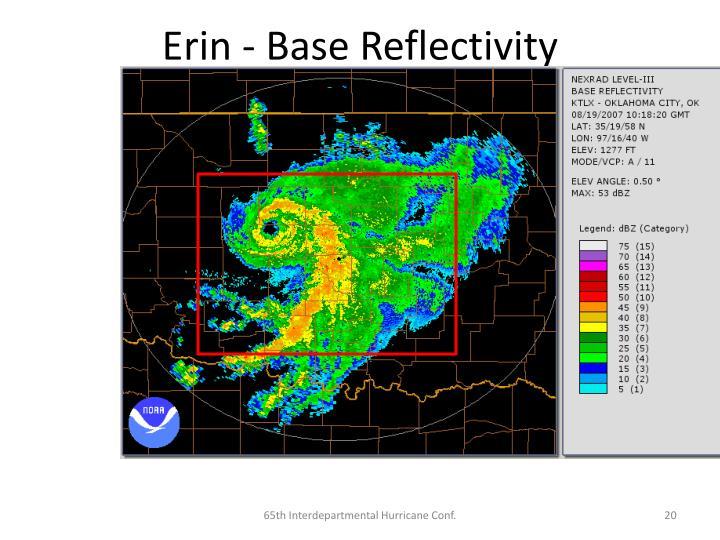Erin - Base Reflectivity
