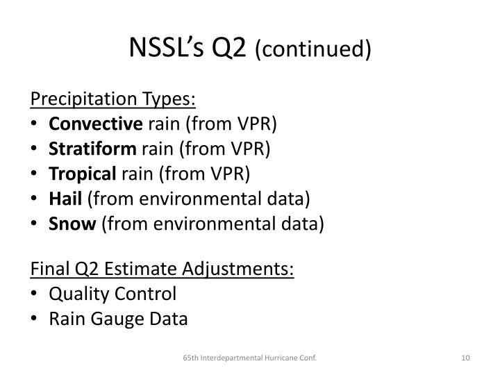 NSSL's Q2