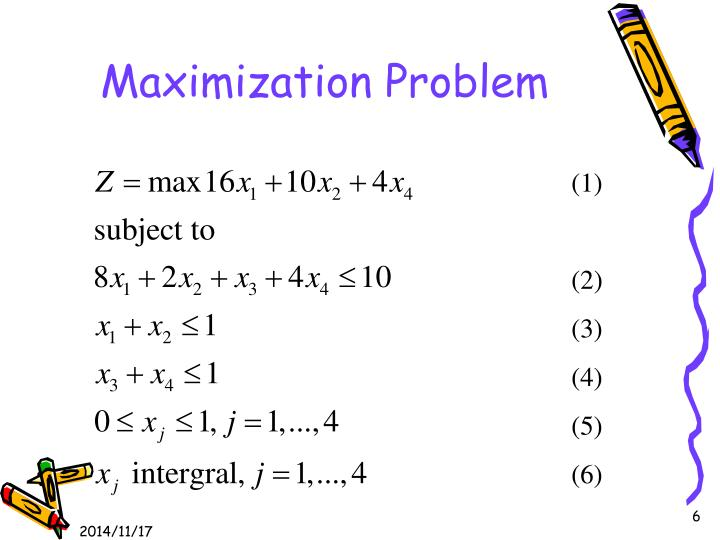Maximization Problem