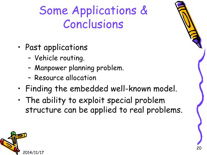 Some Applications & Conclusions