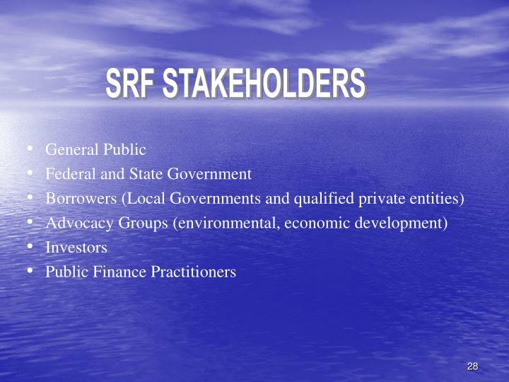 SRF STAKEHOLDERS
