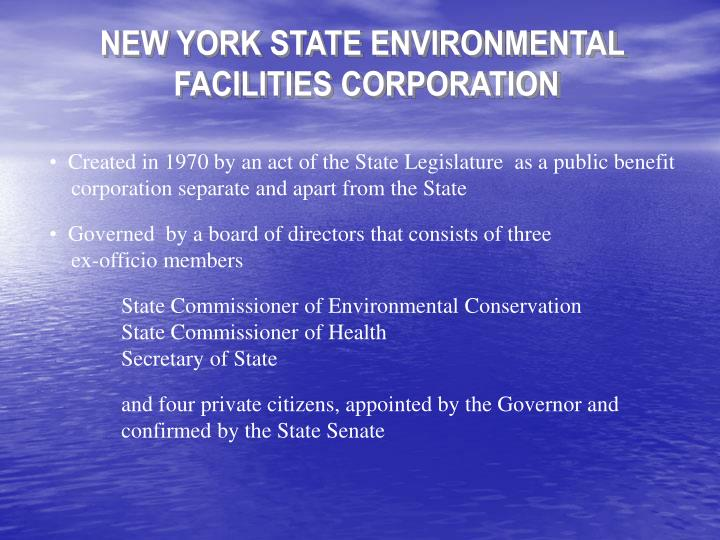 NEW YORK STATE ENVIRONMENTAL