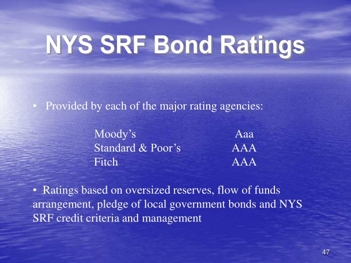 NYS SRF Bond Ratings