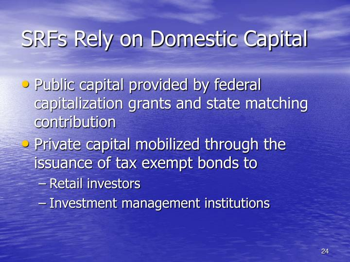 SRFs Rely on Domestic Capital