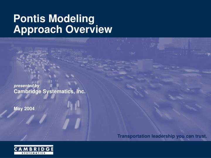 Pontis modeling approach overview