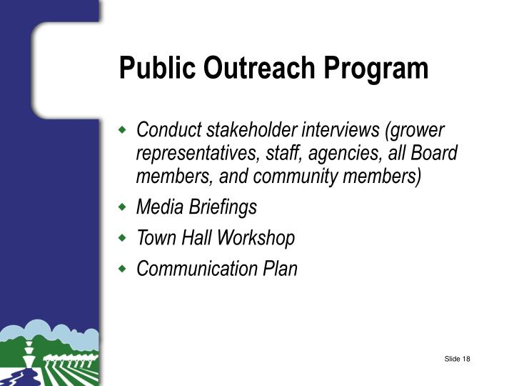 Public Outreach Program
