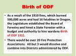 birth of odf1