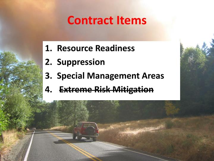 Contract Items