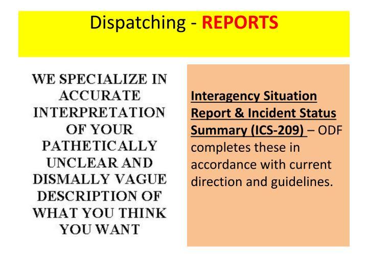 Dispatching -